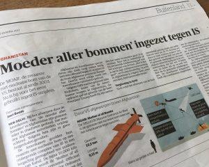 Krantenartikel Moeder aller bommen ingezet tegen IS