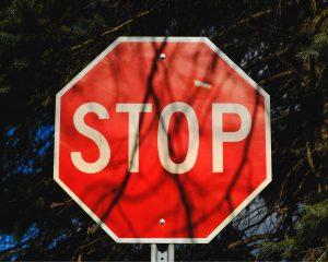 Stop op stopbord