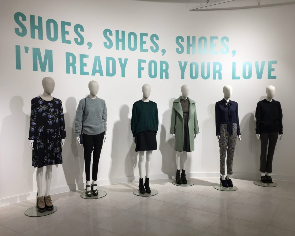 Shoes, shoes, shoes, I'm ready for your love in Hudson's Bay.