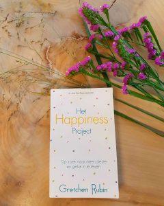 Foto van de cover van Het Happiness Project van Gretchen Rubin.