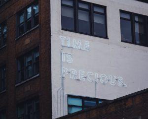 Tijd is waardevol.